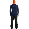 Mons Royale M's Temple Tech Zip Hood LS Spice/Navy/Grey Marl